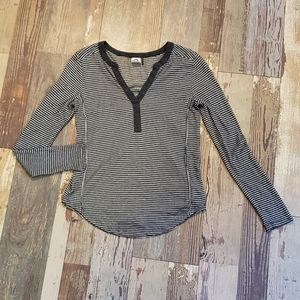Anthro Akemi + Kin Long-sleeved Henley Tee